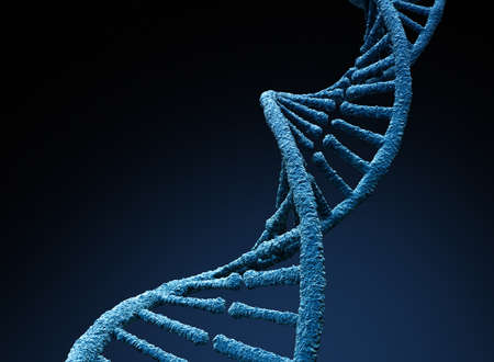 DNA molecule. Isolated on dark background. 3D illustration Zdjęcie Seryjne