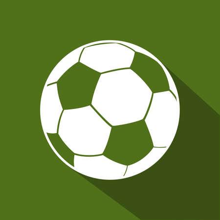 Soccer ball flat icon. Design element. Vector illustration Ilustracja