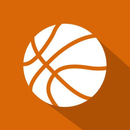 Basketball flat icon. Sports theme. Vector illustration