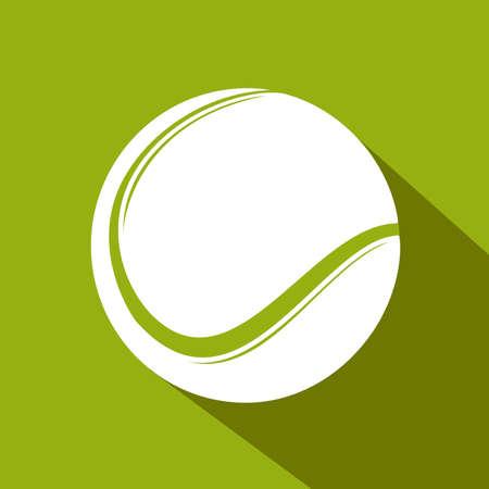 Tennis flat icon. Sports theme. Vector illustration Ilustracja