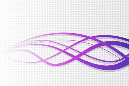 Abstract vector wavy background. Wavy lines on dotted background  イラスト・ベクター素材