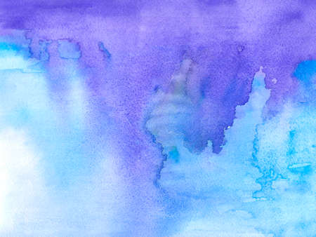 Watercolor blue abstract background. Hand painted watercolor background.