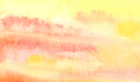 Watercolor orange abstract background. Hand painted watercolor background.
