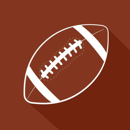 American football flat icon. Sports theme. Vector illustration Ilustracja