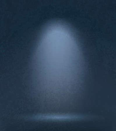 Dark grunge studio background with lighting. Vector illustration Ilustracja
