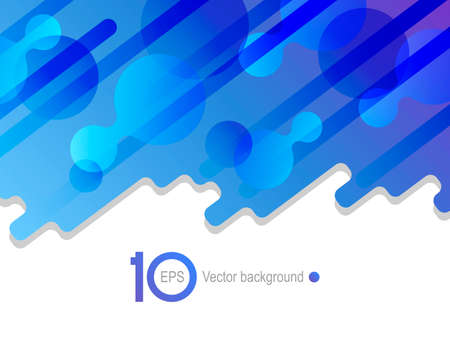 Abstract blue vector background. The effect of fluid. Vector illustration