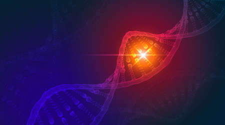 DNA abstract science background. Vector illustration