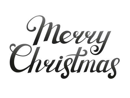 Merry Christmas lettering. Vector illustration. Text element for design.