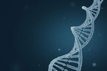 DNA molecule in an electron microscope. Science background. 3D illustration Zdjęcie Seryjne