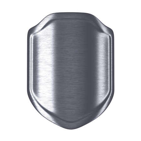 Metal shield. Isolated on a white background. 3D illustration