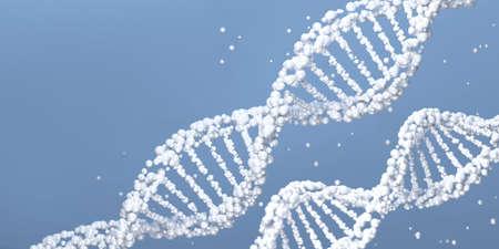 DNA molecule. Scientific background. 3D illustration