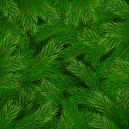 Christmas tree branches pattern. Christmas and New Year decoration. Vector illustration