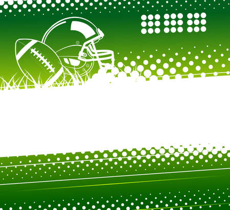 American football. Abstract sports background. Vector illustration Ilustrace