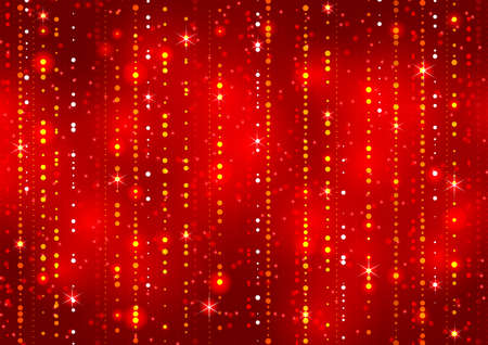 Red abstract decorative shining background. Vector illustration