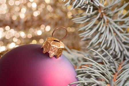 Christmas traditions with a Christmas tree and ball