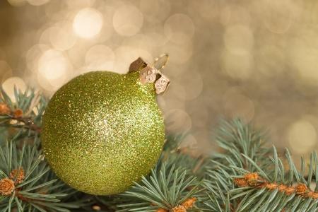 Christmas ball lying on the needles