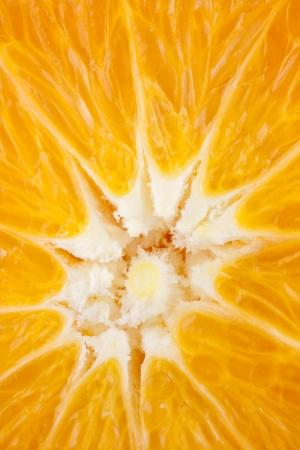 detail center halved ripe oranges