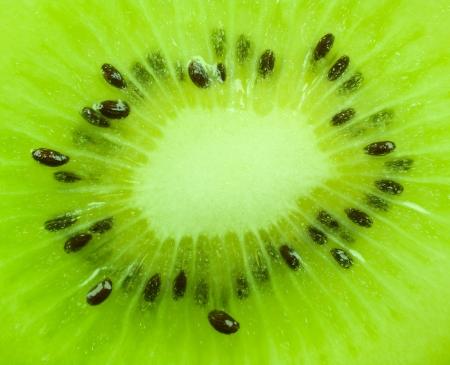detailed texture of the kiwi