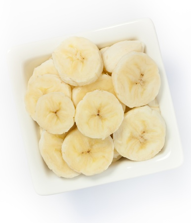 bowl full of pieces of banana photo