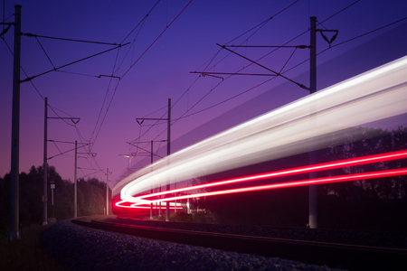 bright line passing night train