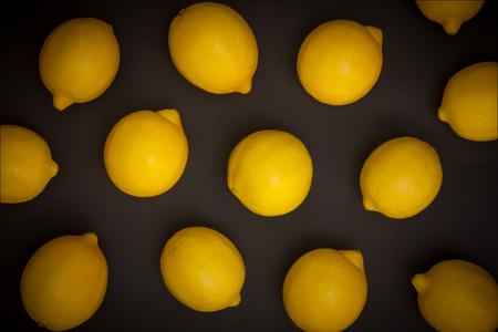 fruit background of yellow lemons
