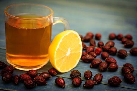 ascorbic acid: Dried fruits hip with lemon