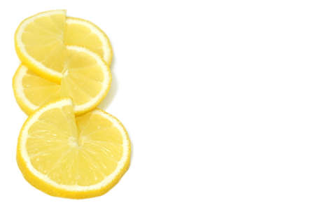 lemon slices: lemon slices on white background