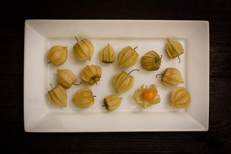 gooseberry: gooseberry on a white plate