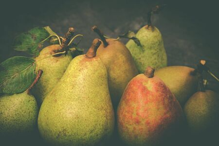 ripe pear on a marble background