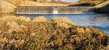 weir: Panorama of the river Weir