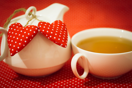 Valentine Tea with red heart
