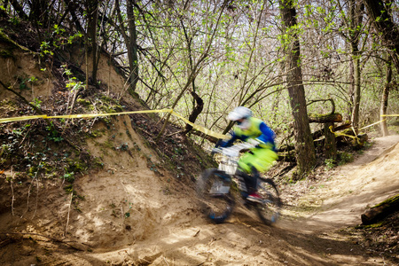 downhill: extremely fast downhill race bikes