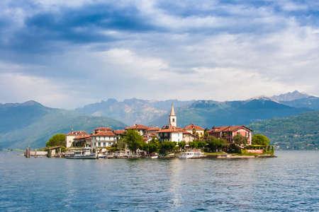 arona: Isola Pescatori - Lago Maggiore Stock Photo