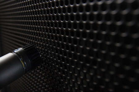 Microphone in front of an amplifier photo