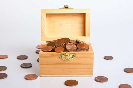 cents: Chest full of euro cents