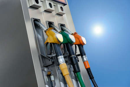 gasoline pumps Stock Photo