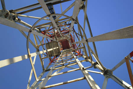tele up: iron tower from above