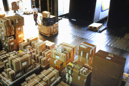 shipper: delivery warehouse Stock Photo