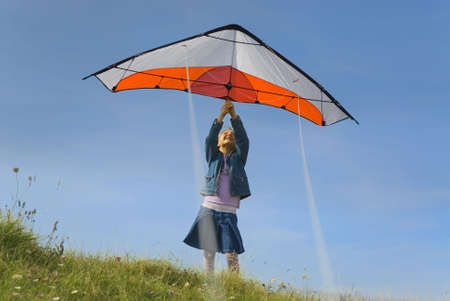 plaing kite photo