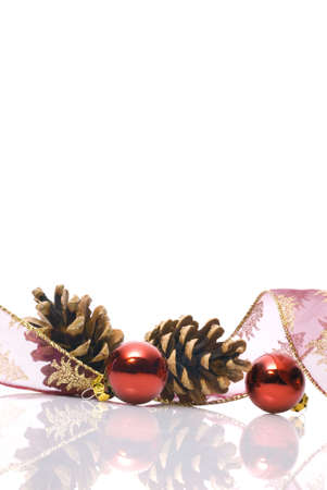 christmas decorations with blank area photo