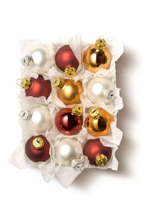 festoons: box of chistmas balls