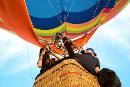 shooting from the hot air balloon photo