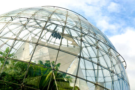 spheric structure with plants inside