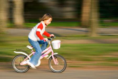 autonomia: ciclismo r�pido en el Parque  Foto de archivo