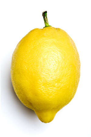 sourness: organic lemon isolated on white background Stock Photo