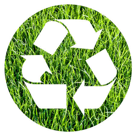 recycle symbol made with grass Stock Photo - 3102729