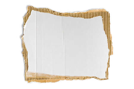 scrap of corrugated fiberboard with rough borders Stock Photo - 3309769