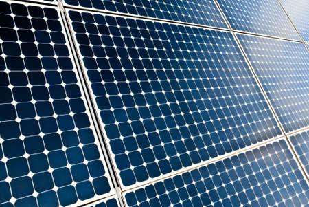 modernity: close view of solar panel modules Stock Photo