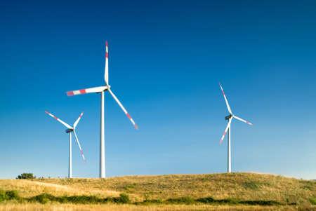 wind turbines in a wind farm Stock Photo - 3538057