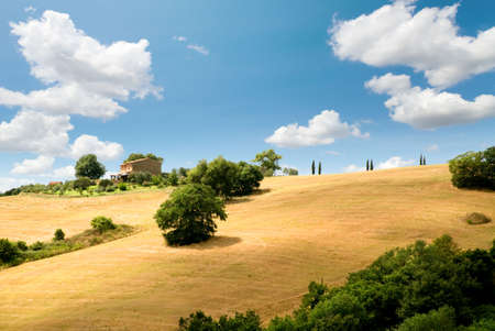 italian landscape: relaxing landscape of tuscan rural area in a beautiful day
